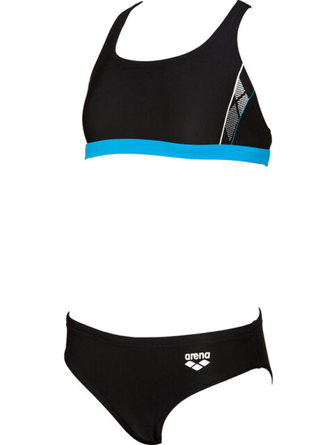 arena Skid Two-Pieces Swimsuit Girls black-turquoise-white